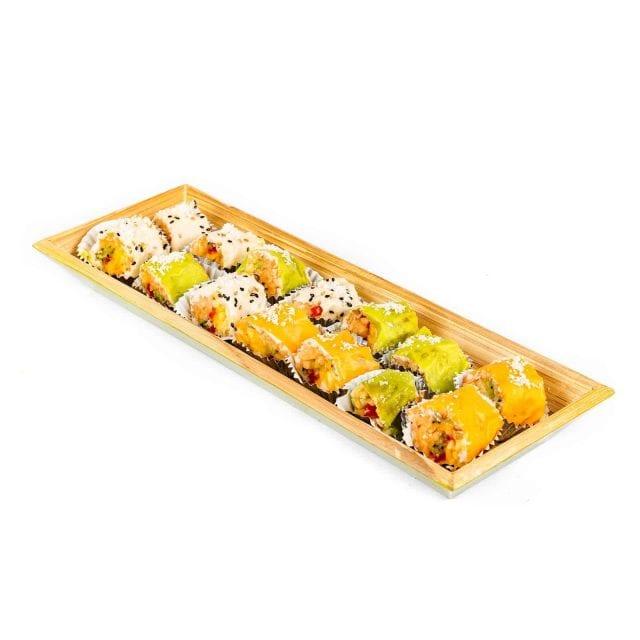 מגש סושי פירות מלבן עץ קטן