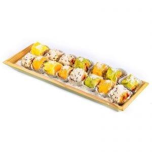 מגש סושי פירות מלבן עץ